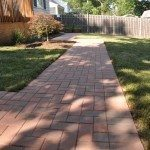 New Brick Walkway in Backyard of Home