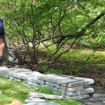 Bluestone Wall Installation