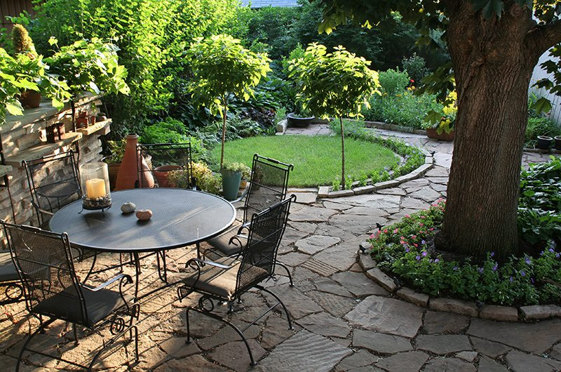 Paver Patio and Walkway Landscape Design