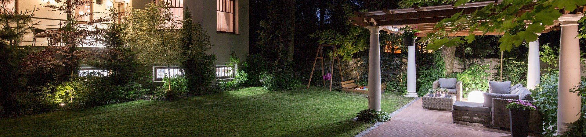 Landscape Lighting in Backyard