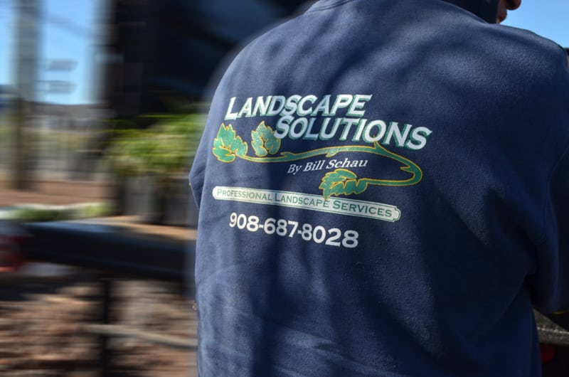 Landscaper in Landscape Solutions Company Shirt