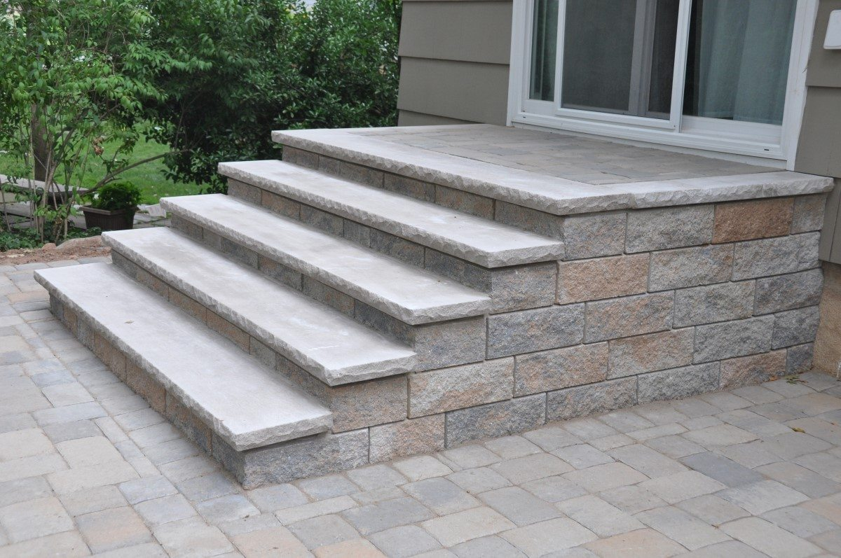 How to build patio steps using pavers icamblog how to make patio steps with pavers icamblog eventelaan Images